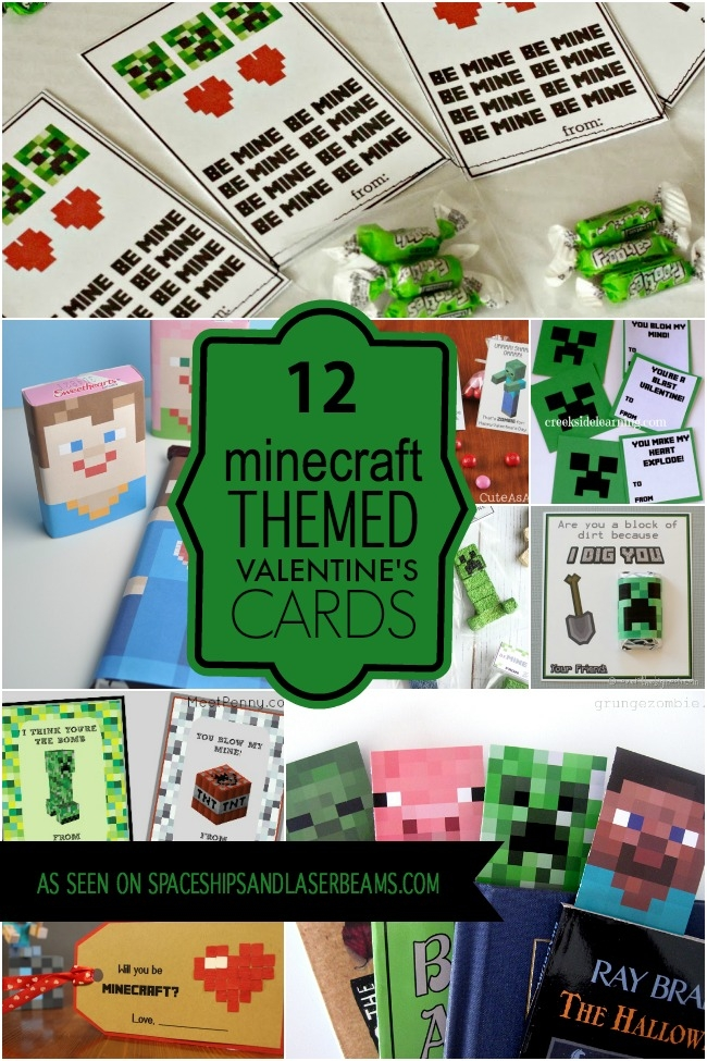 image relating to Printable Minecraft Valentines identified as The Suitable Absolutely free Printable Valentines Miss out on Toward My Lou