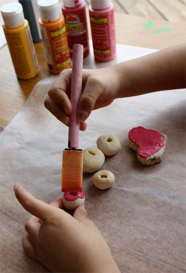 panting salt dough beads