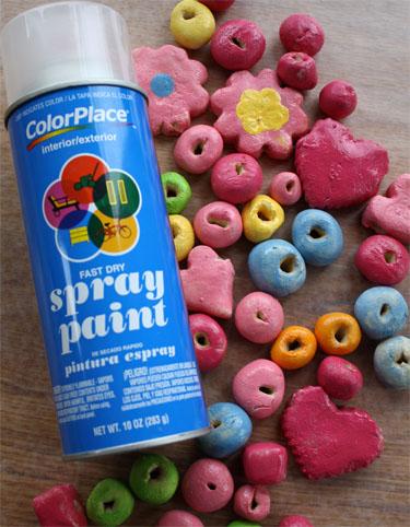spray paint for salt dough beads