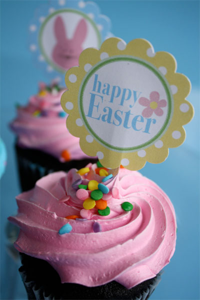 Easter Cupcake Toppers HAPPY EASTER! 6
