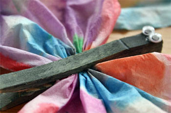 clothespin and coffee filter butterfly craft