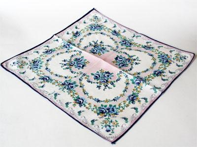 floral printed vintage hankie