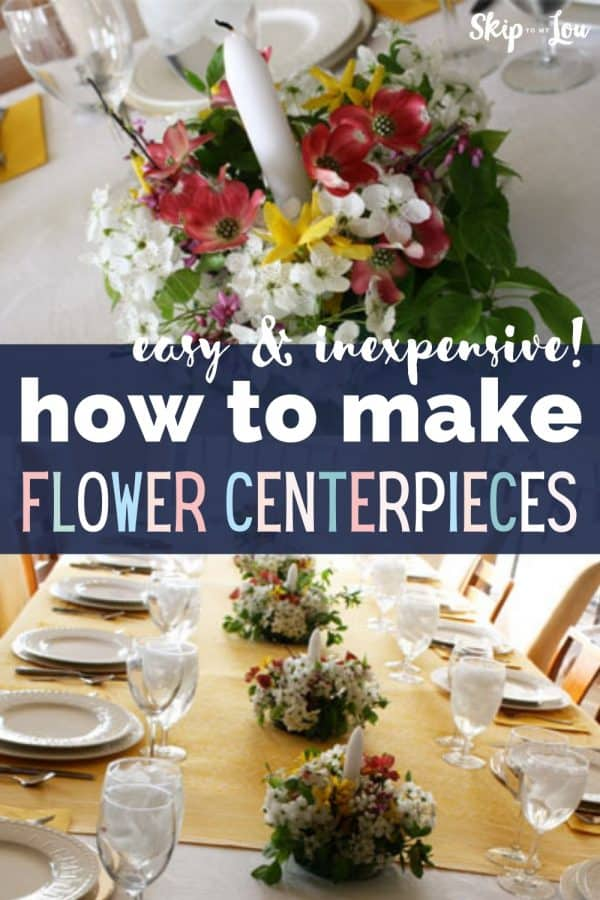 how to make flower centerpieces PIN