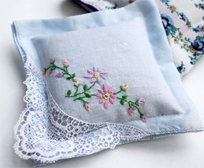 Handkerchief Sachets | Diy embroidered handkerchief| Dainty Embroidered Handkerchief Designs | Sewing