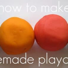 how to make homemade playdough