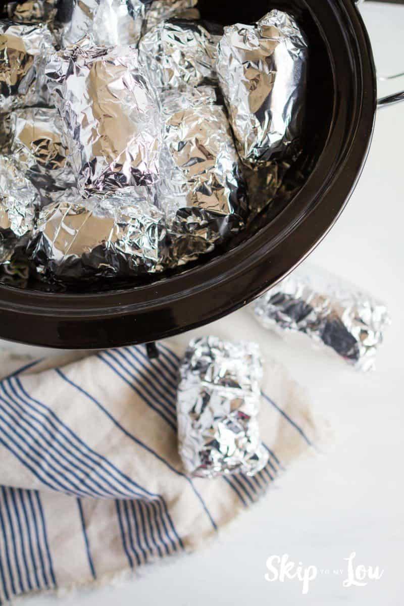 how to make crock pot baked potatoes