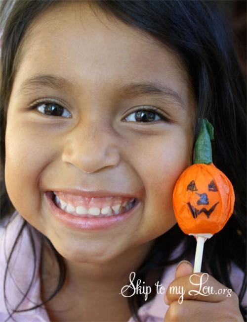 tootsie pop pumpkin tutorial