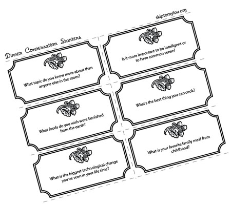 picture about Printable Conversation Cards called Interaction Starters