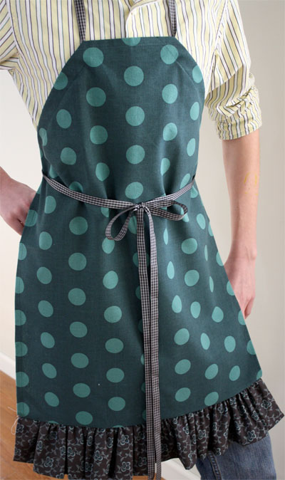 full length tea towel apron