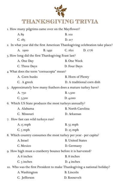 photograph regarding Thanksgiving Trivia Printable titled 10 No cost Printables for Thanksgiving Miss out on Toward My Lou