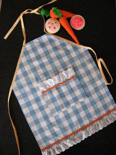 child dish towel apron