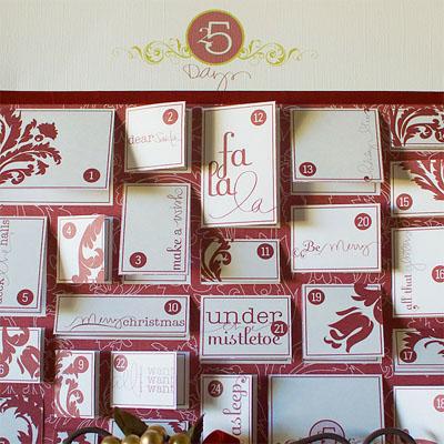 10 Paper Doll Advent Calendar