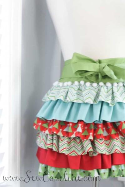 ruffly apron