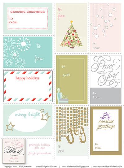 image relating to Christmas Labels Printable known as Totally free printable Xmas Present tags