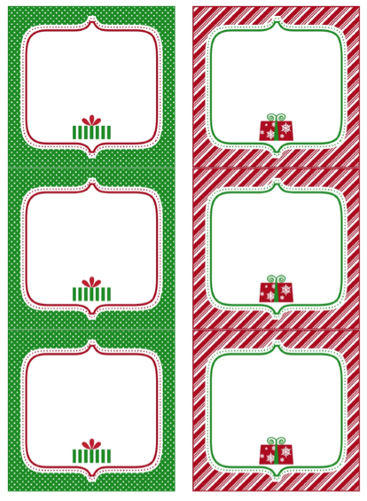 photograph about Christmas Labels Printable identified as No cost printable Xmas Present tags