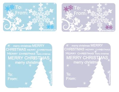 picture regarding Printable Gift Labels named No cost printable Xmas Present tags