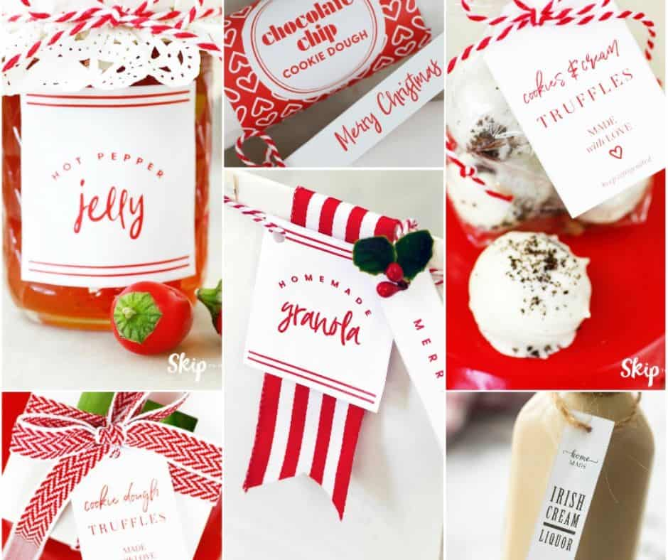 collage of edible gifts