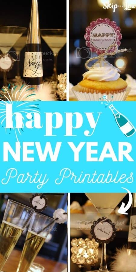 happy new year party printable PIN