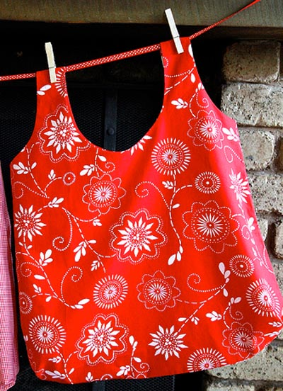 4 Recycled Rice Bag Grocery Tote