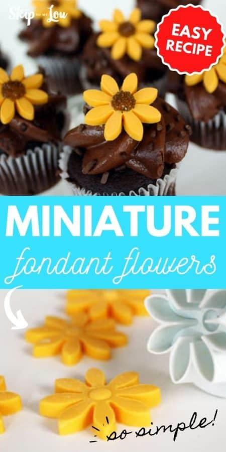 miniature fondant flowers PIN