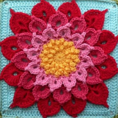 Crocodile-crochet-Flower