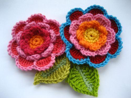 Crochet Triple Layer Flower Pattern