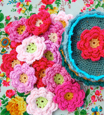 Crochet Flower Scarf - ShopWiki