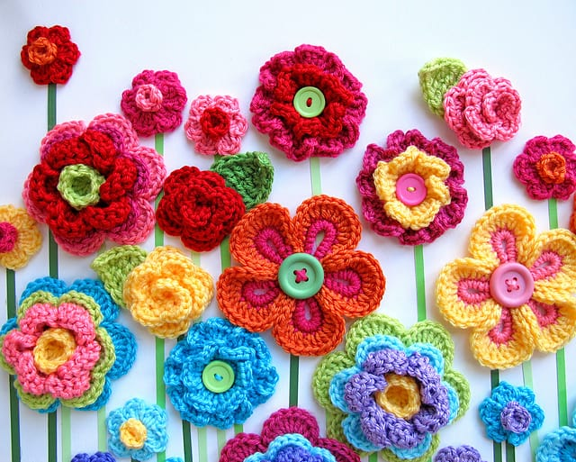 10 beautiful crochet flowers to make skip to my lou