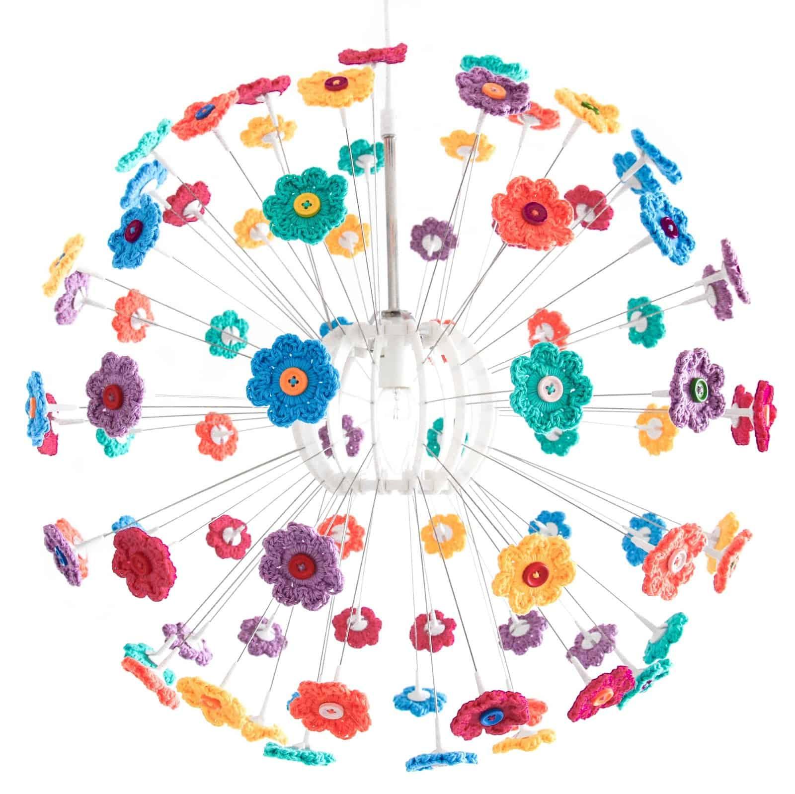 Crochet Flower Chandelier
