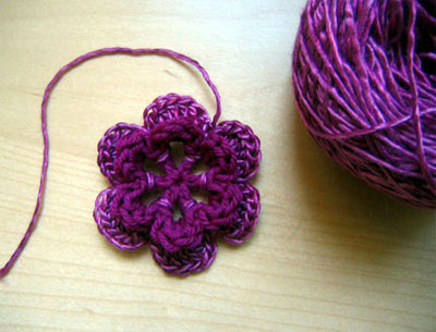 Crochet Tutorial : Alfa img - Showing > Crochet Flower Tutorial Step by Step