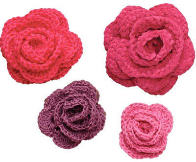 Crocheted Rose Lariat Scarf Pattern PDF by timaryart on Etsy