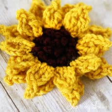 crochet-sunflower