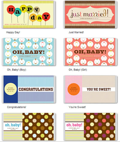 Free printable custom candy bar covers for Personalized chocolate wrappers template