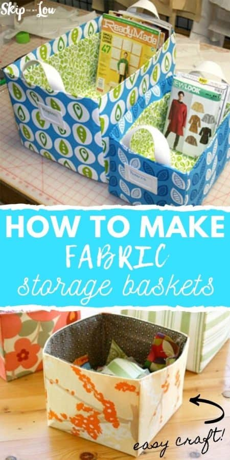 how to make fabric storage baskets PIN