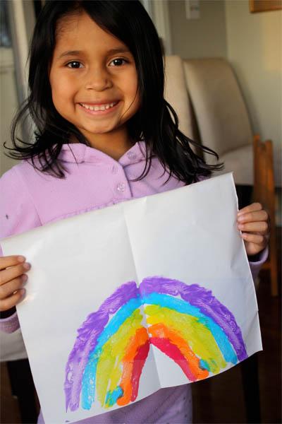 Painted Rainbow Print