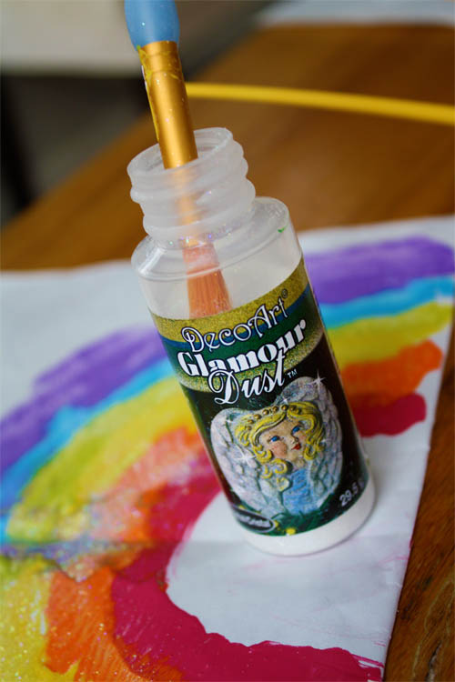 bottle of decor art glamour dust