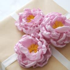 diy fabric flower peony
