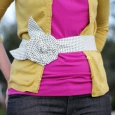 Fabric Flower Belt