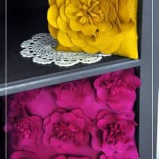 Felt Flowers For Home Decor