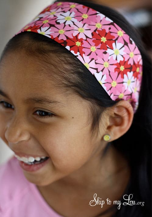 how to sew a headband kids sewing project girl with headband