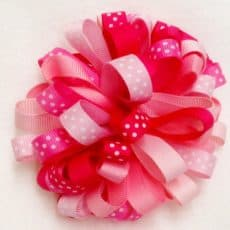 Loopy Puff Ribbon Fower Hairbow
