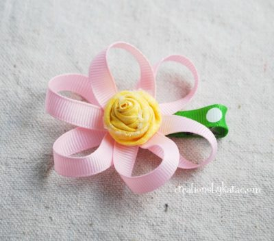 Loopy Flower Hairclip