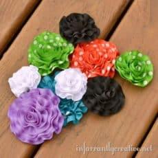 Ruffled Ribbon Flowers
