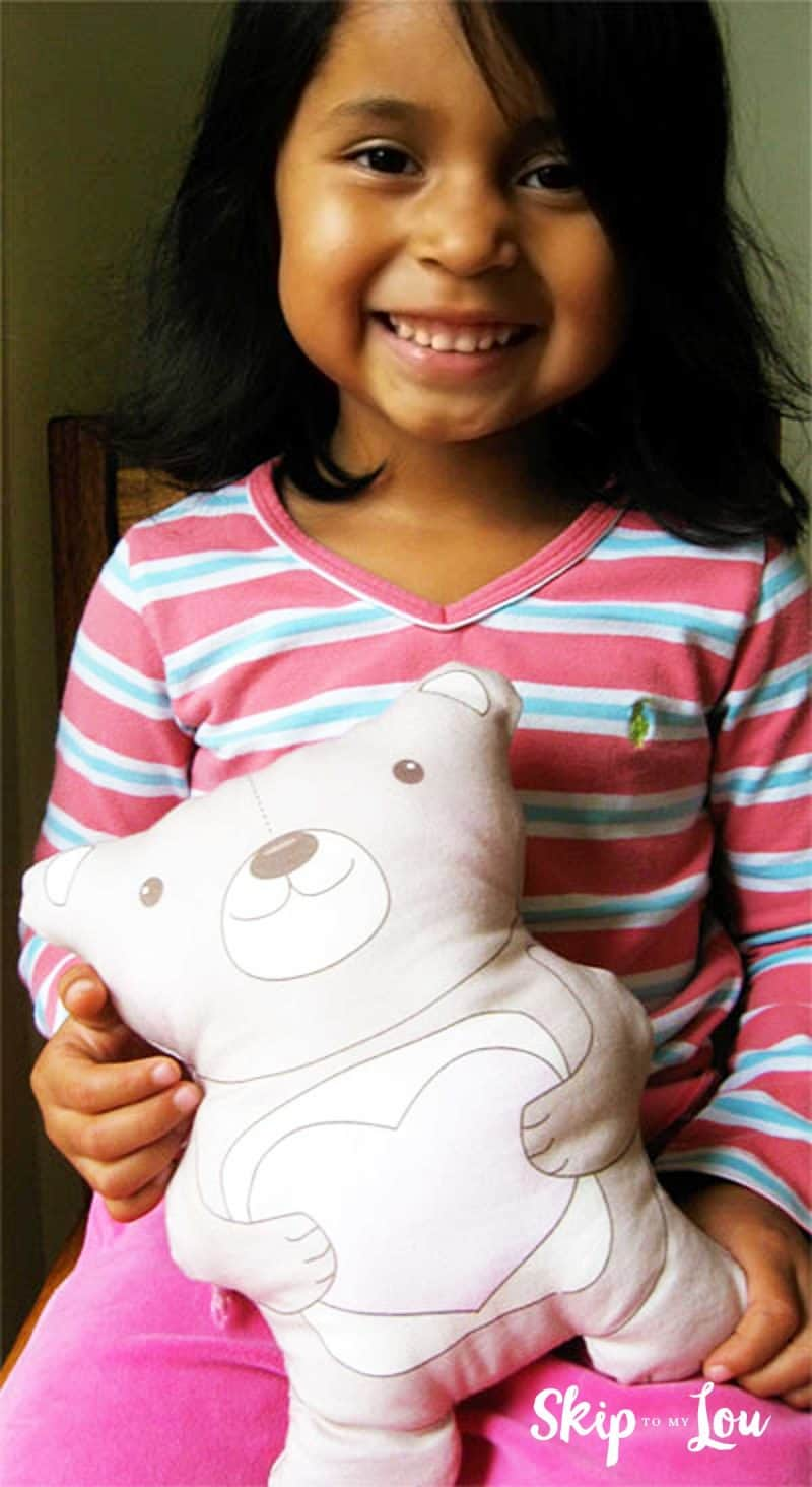 teddy bear pattern sewing project for kids