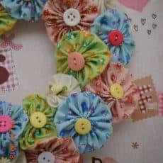 Yo Yo Flower Wreath