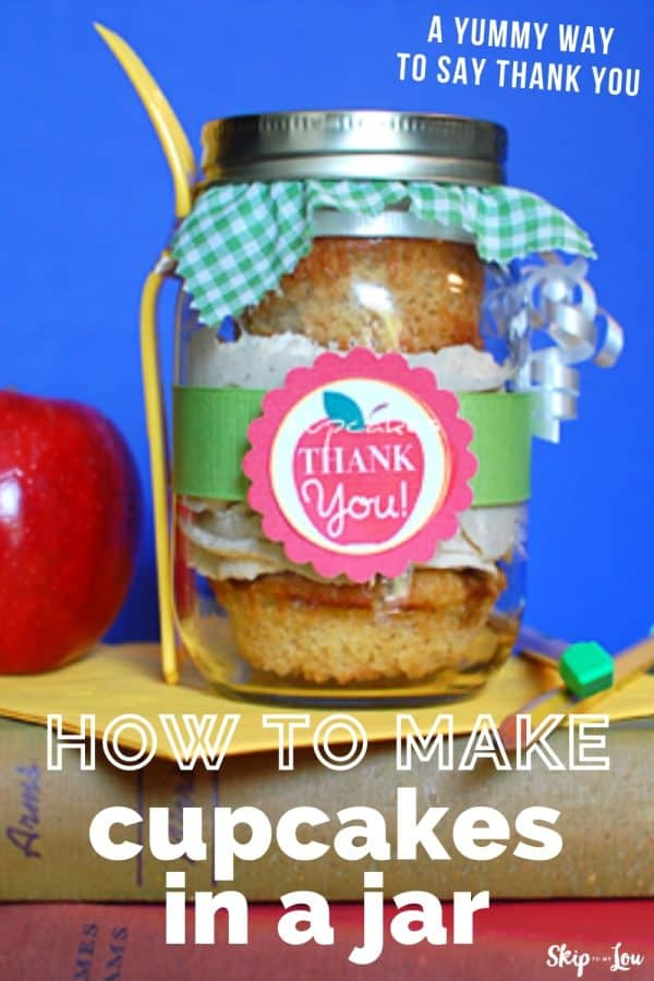 how to make cupcakes in a jar PIN