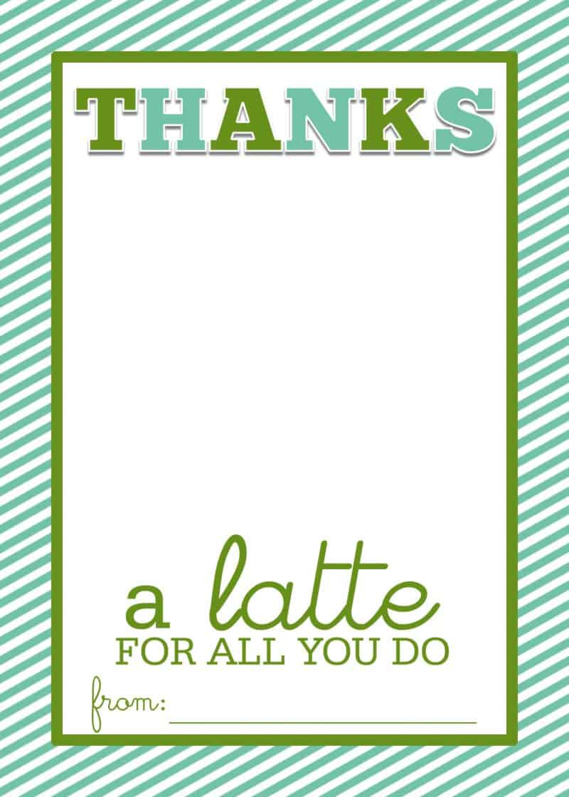 thanks a latte printable