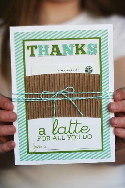 thanks a latte gift card for teachers