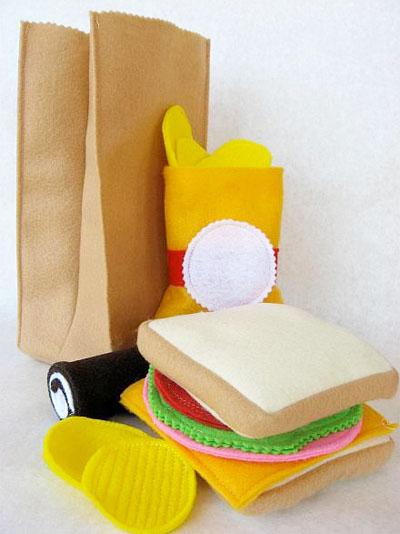 felt food sack lunch