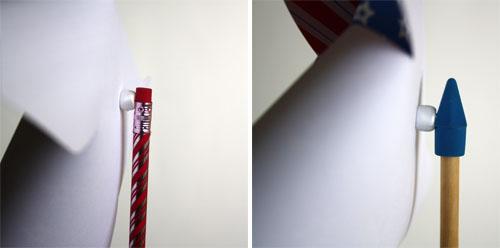 adding pencil to pinwheel